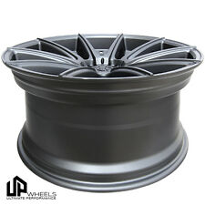 "19"" 5x120 UP100 WHEELS SET 19x8.5/9.5 ET35 ET40 GUNMETAL BMW E46 E90 E91 E92 F30"