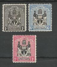 British Africa centrale (Nyasaland) sg32,35 & 36 1896 TRIO A 1 / - Menta CAT £ 103 +