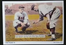 Floyd Vaughan; Hans Wagner - Reproduction of 1936 Pastel series baseball card