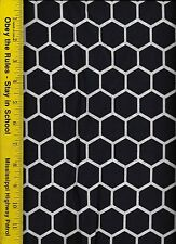QUILT FABRIC: 100% COTTON, NAVY BLUE HONEYCOMB, By The Yard