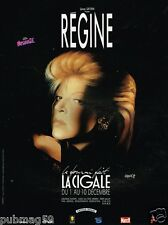 Publicité advertising 1989 Concert Régine à La Cigale