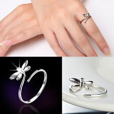 Sterling Fashion Silver Lady Ring Finger Opening Adjustable Dragonfly Hot