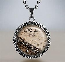 Flute necklace,flute pendant,music pendant flute player pendant music necklace