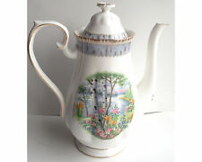 Royal Albert Silver Birch Large Coffeepot Coffee Pot