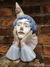 "Lladro Sorrowful Clown Head Large 12"" Tall Rare Retired 2001"