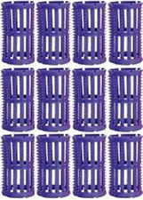 HAIRDRESSING 12 ** LARGE **  LILAC HAIR ROLLERS/CURLERS 36mm + 12 x ROLLER PINS