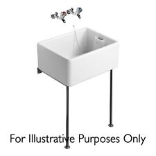Belfast Sink Stand , Polished Stainless  Steel Legs Alloy Bearers / Bracket