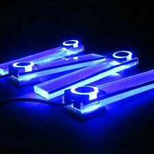 4pcs Car Interior Under Dash Decorative LED Lights Lamp Blue Color