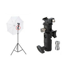 Flash Hot Shoe Umbrella Holder Swivel Light Stand Mount Bracket Type E