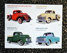 2016USA Forever - Pickup Trucks - Block of 4  Mint  ford ih chevrolet