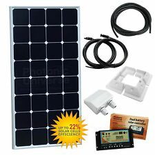 100W 12V twin battery solar charging kit caravan rv camper van boat 100 watt