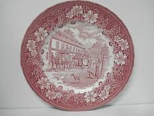 Royal Tudor Ware Coaching Taverns Pink Dinner Plate