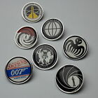 JAMES BOND 007 High Quality Pin Badge Collection / Tie Pins - Licence To Kill!