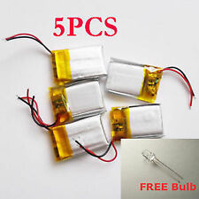 5pcs 3.7V 300mAh Li-Po Polymer Rechargeable Battery For MP3 PSP Bluetooth Pen