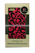 iCOUTURE Hardshell Case PINK+BLACK LEOPARD For iPOD Touch 5th Gen ULTRA SLIM FIT