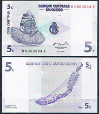 CONGO - 5 CÉNTIMOS 1997 Pick#81   SC  UNC