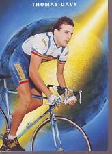 CYCLISME carte THOMAS DAVY  (equipe CASTORAMA ) 1992