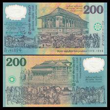 Sri Lanka 200 Rupees, 1998, P-114b, POLYMER, UNC COMM.Black Serial