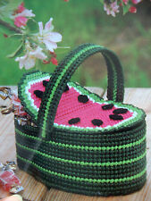 WATERMELON BASKET   **PLASTIC CANVAS PATTERN ONLY**(1)