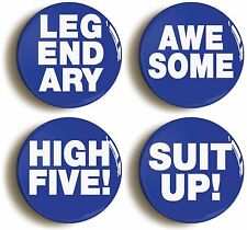 BARNEY STINSON QUOTES BADGE BUTTON PIN SET (Size is 1inch/25mm diameter) HIMYM
