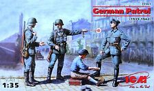 ICM 1/35  35561 WW2 GERMAN PATROL (1939/42) 4 FIGURES 4 POSES