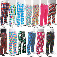 Golf Trousers By Royal And Awesome Funky Pants Waist 30 32 34 36 38 40 42 44