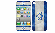 COQUE  iphone 4 EN RESINE 3D STICKERS REPOSITIONNABLE DRAPEAU ISRAEL N° 48