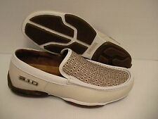 310 motoring shoes canning casual slip-on natural/white size 11.5 us new