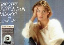 PUBLICITE ADVERTISING  046  1985  Laines Bouton d'Or  Jane Birkin  (2p)