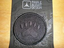 Triple Aught Design Tracker Paw TAD Morale Patch Black Out