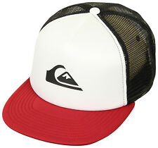 Quiksilver Snap Addict Trucker Snapbackhat (White/Red/Black)