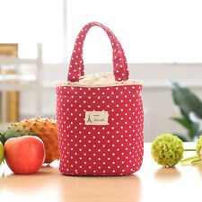 Thermal Insulated Lunch Box Cooler Bag Tote Bento Pouch Lunch Container Red
