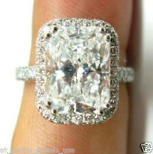 2.50 CT RADIANT SOLITAIRE ENGAGEMENT RING SOLID STERLING SILVER FINE EDH