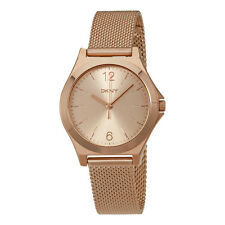 DKNY Parsons Rose Dial Gold-tone  Ladies Watch NY2489