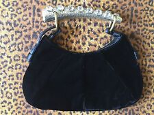 Exquisite Yves Saint Laurent YSL Black Velvet Mini Mombasa Evening Bag