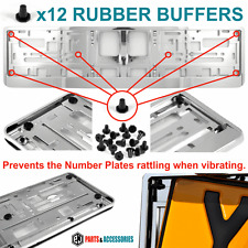 12x ​RUBBER BUFFERS for Chrome Number plates Holder Surround Bumper Protector