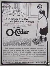 PUBLICITÉ LE BALAI O-CEDAR LA NOUVELLE MANIÈRE DE FAIRE SON MÉNAGE