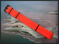 NEW Coast Guard Orange 20m 22m NATO G10 PVD watchband strap RAF Bonded IW SUISSE