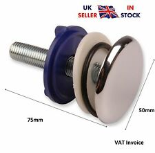 Chrome Kitchen Sink Tap Hole Blanking Metal Plug Plate Stopper Cover 50mm