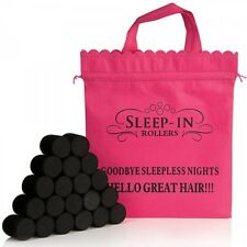 Sleep In Rollers BLACK Gift Set in Box - 20 Rollers & Pink Bag