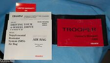 Package of 1999 Isuzu Trooper Owners Drivers Operators Manual Book w/ Case Pouch