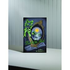 LUCK OF THE IRISH Vintage Postcard Scene LIGHTED CANVAS ST. PATRICK'S DAY