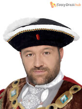 Adult Mens King Henry VIII 8th Hat Tudor Medieval Fancy Dress Costume Accessory