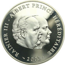 C180) Monaco 10 Euro 2003 Albert and Rainier