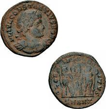 Constantius II Follis Antiochia 335 GLORIA EXERCITVS Soldaten Standarten RIC 88