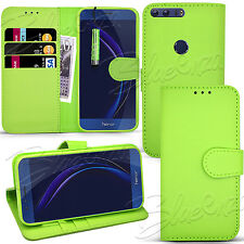 For Huawei Honor 8 - Wallet Leather Case Flip Book Stand Cover+ Screen Protector