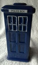 Ceramic Police Box Dr Who TARDIS Style Money Box 13cm Tall  in Gift Box
