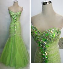 NWT RIVA DESIGNS R9566 Snow Lime $478 Ball Prom Gown 0