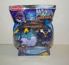 Fisher Price Planet Heroes Pluto Shiver Figure w/ Plutonian Polar Bear Vehicle