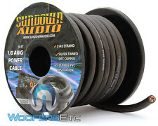 SUNDOWN AUDIO SA-1/0-OFC GA BLACK 100% COPPER WIRE 50 FEET AMPLIFIER CABLE CORD